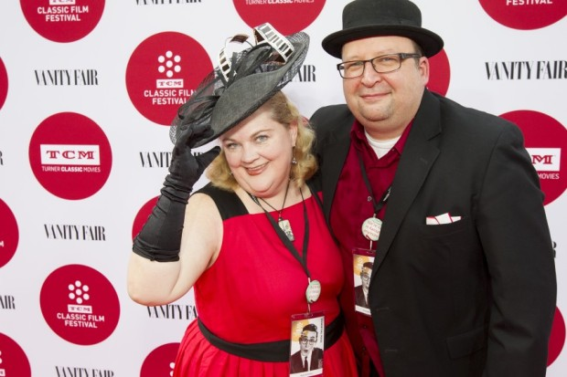 Kelly Kitchens and Mark Wickersham on the red carpet at the 2014 TCM Film Festival. Photo credit: