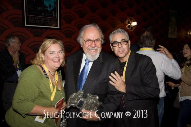 Kelly Kitchens with George Schlatter and Bart Weiss at 2013 Dallas VideoFest. Photo Credit: