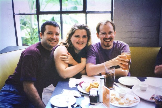 "(left to right) Todd Johnson, Kelly Kitchen and Chad Tomlinson during their ""Met"" days in 1994. Photo credit: Kris Hundt"